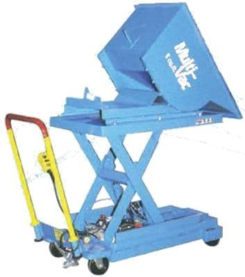 industrial vacuum tilting hopper
