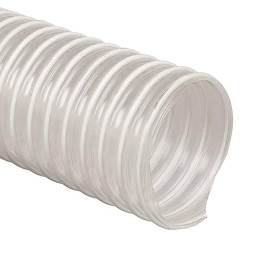 63mm Polyurethane Clear Vacuum Hose 20 Metre Lengths